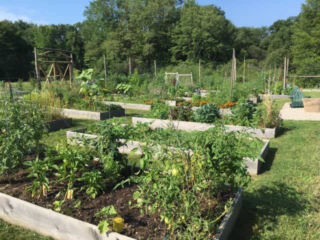 The garden at Lachat Town Farm in Weston, ranked as the safest city in Connecticut.