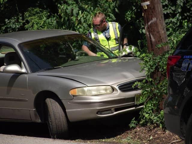 A Buick crashed into a Ho-Ho-Kus utility pole Wednesday.