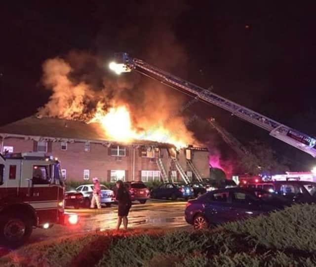 A fire destroyed a Park Ridge condominium complex over the weekend.