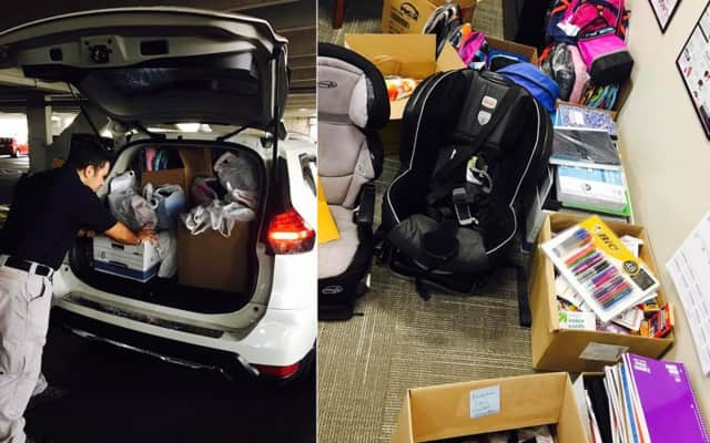 The Bergen prosecutor's Domestic Violence Squad collects and donate backpacks and supplies for children living in the county's domestic violence shelters.
