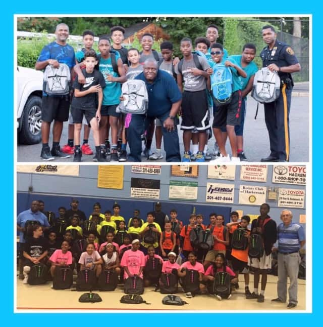 The Hackensack Junior Basketball League gave away backpacks after another successful season.