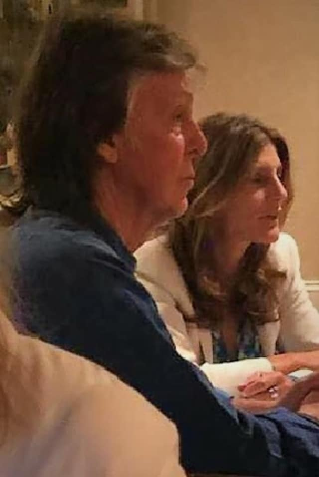 Macca and wife at Jimmy's Restaurant in Asbury Park.