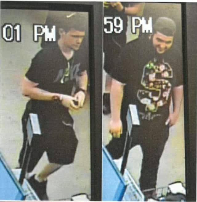 The Wallkill Police Department is seeking information on the suspect pictured in the left of this photo.
