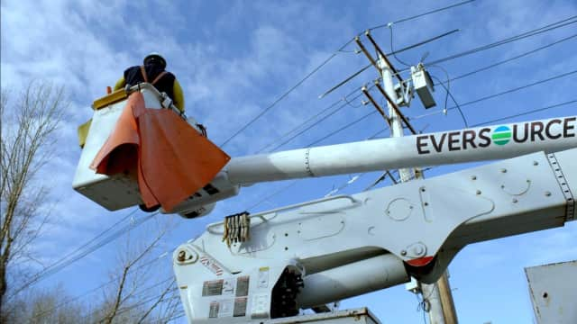 Eversource and United Illuminating reported hundreds of power outages in Fairfield County on Tuesday afternoon