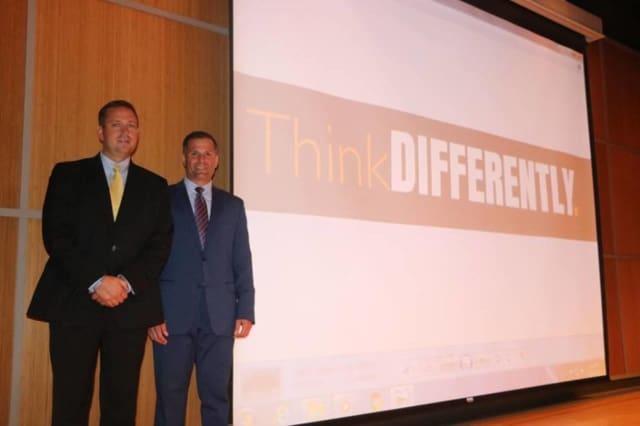 Orange County Executive Steve Neuhaus and Dutchess County Executive Marc Molinaro promote 'Think Differently.'
