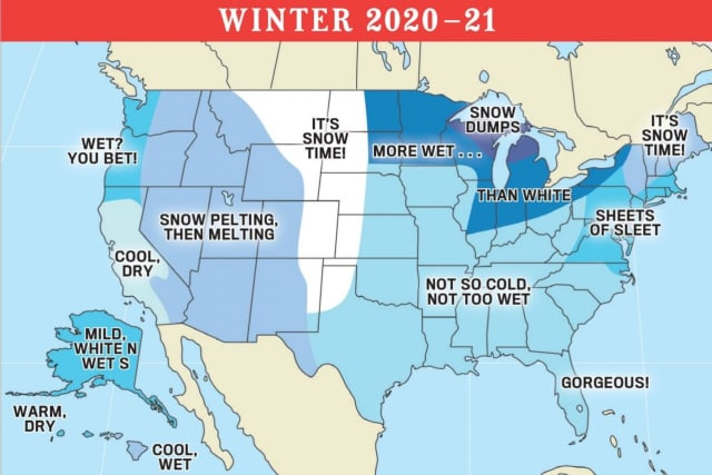 A look at the Old Farmer's Almanac's prediction for the winter of 2020-21.