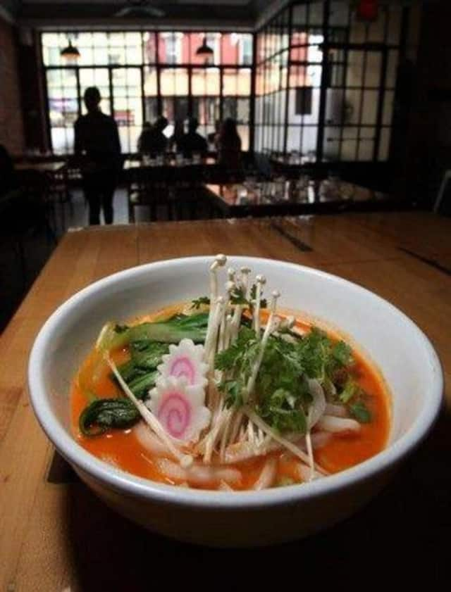 Ramen dish at UNoodles Snack Bar in Haverstraw.