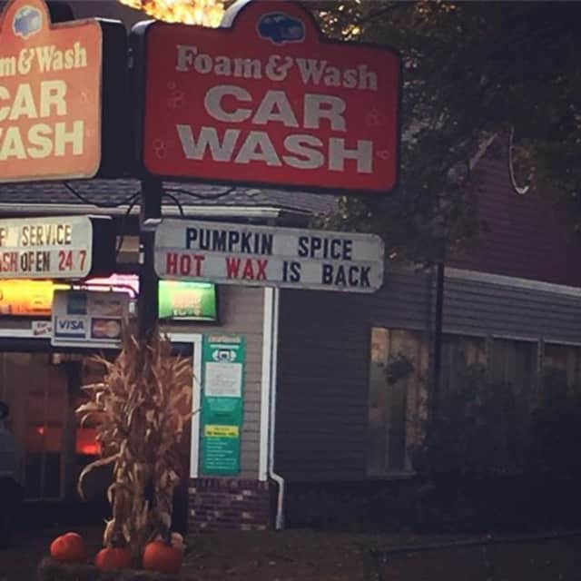 A local car wash is pranking customers by offering pumpkin spice car waxes.