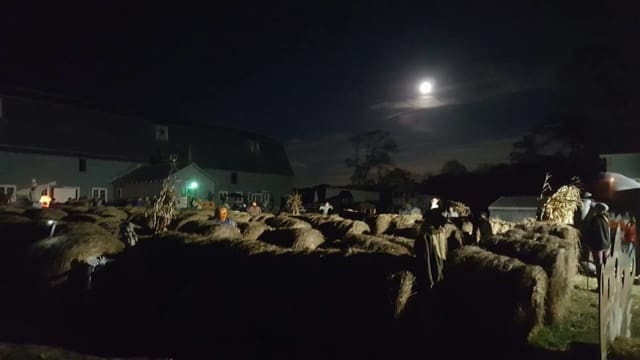 Fright night at Pierson's Farm in Middletown.