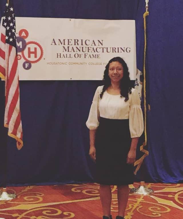 Jenny Tovar- Peralta was HCC's Advanced Manufacturing Program Alumni Speaker.
