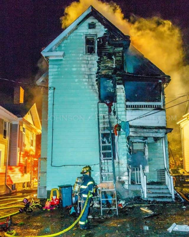 Poughkeepsie firefighters battled a blaze on Mainson Street.