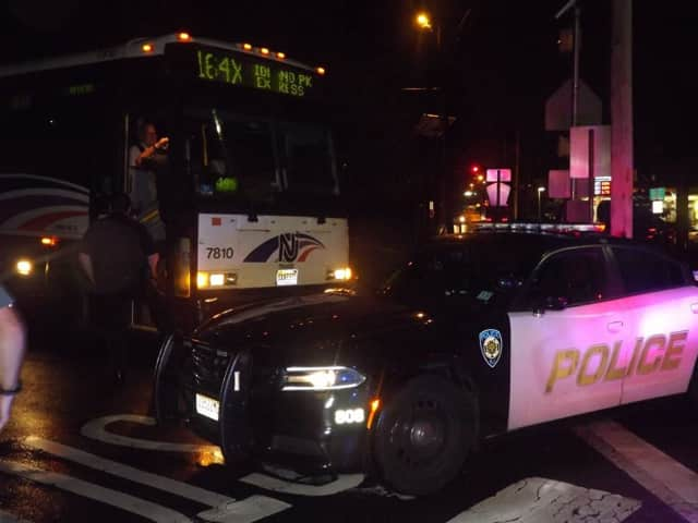A pedestrian was struck by an NJ Transit bus Monday in Glen Rock.