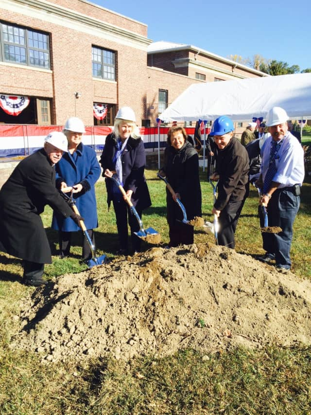 Officials break ground at VA Hudson Valley Health Care System's Montrose Campus for renovations that include upgrades to an indoor therapy pool.