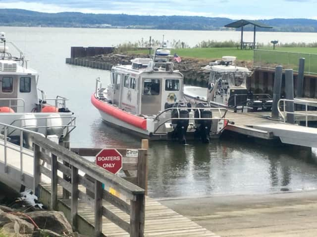 The Rockland County Sheriff's Office rescued a child that was underwater after the boat they were riding in flipped over.