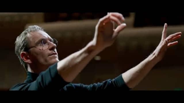 """Michael Fassbender as Steve Jobs in the movie """"Steve Jobs."""""""