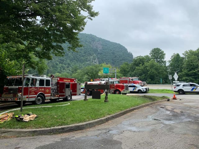 A fiery tractor-trailer crash shut down Route 80 near the parking area of a state forest in Warren County Thursday morning, authorities said.