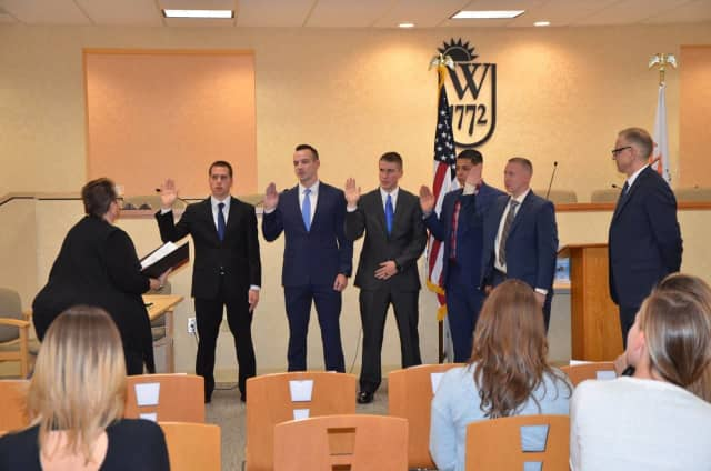 The Wallkill Police Department swore in five new officers.