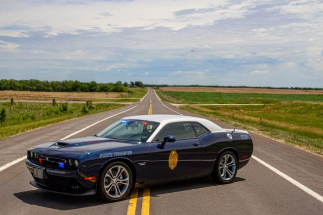 Kansas Highway Patrol car