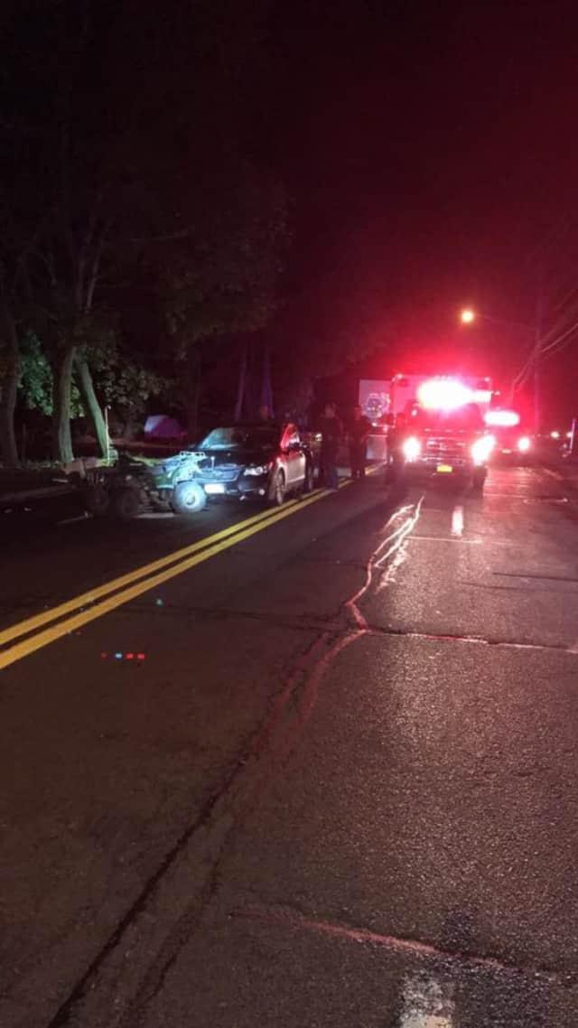 A Sloatsburg man received life-threatening injuries during a crash.