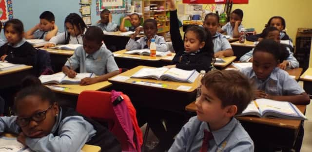 Students at the Charter School of Educational Excellence.
