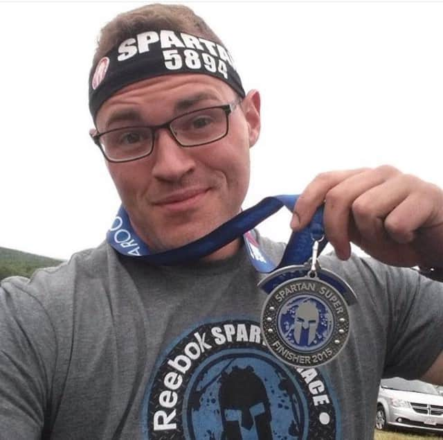 Nick Smith, a proud finisher of a recent Spartan Race.