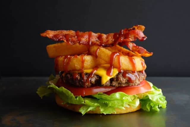 Whiskey Bacon BBQ Burger.