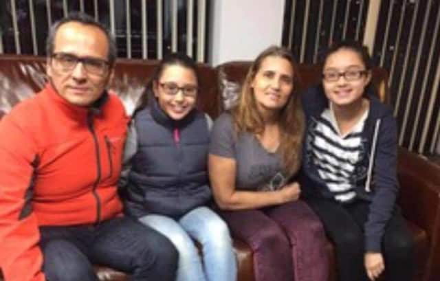 Miriam Martinez-Lemus, a Stamford resident who is facing deportation to Guatemala, with her husband, Raphael Benavides, and their daughters.
