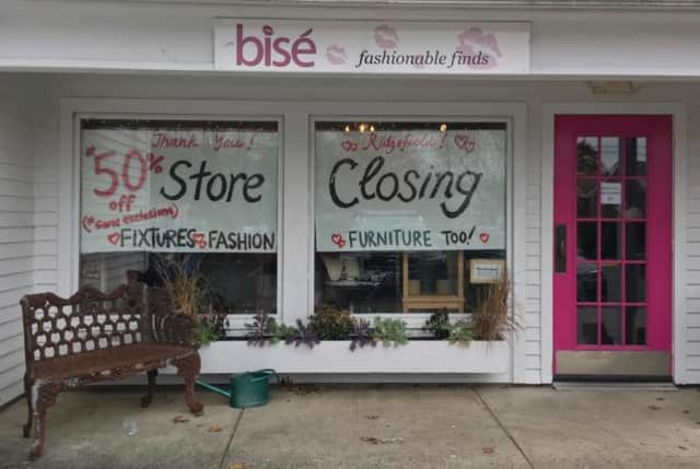 Bise, located at 109 Danbury Road in Ridgefield, is holding a going-out-of-business sale.