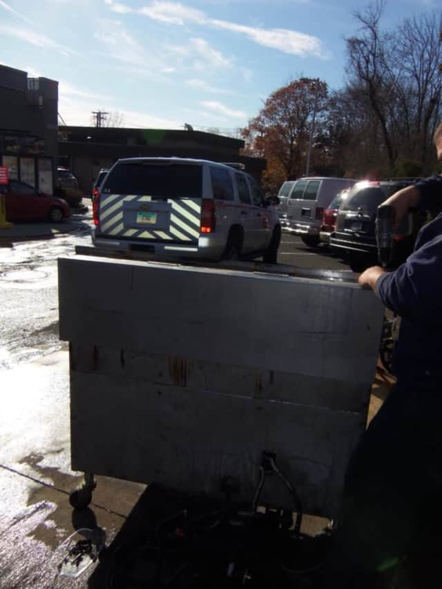 The Nichols Fire Department helped to douse a blaze in a frialator at the McDonald's on Hawley Lane in Trumbull on Tuesday.