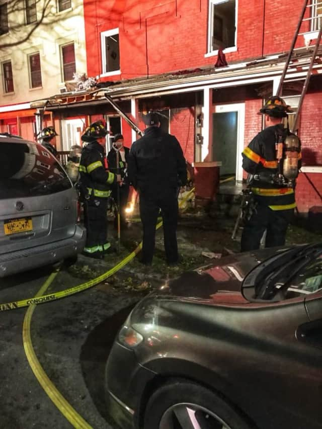 Nine people were left homeless following a City of Poughkeepsie apartment fire.