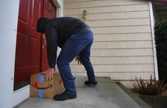 An area resident lost a package full of iPhones to a porch pirate.