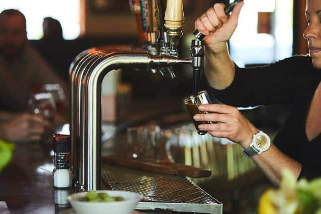 Beer is a big part of the experience at Plan b Restaurants.