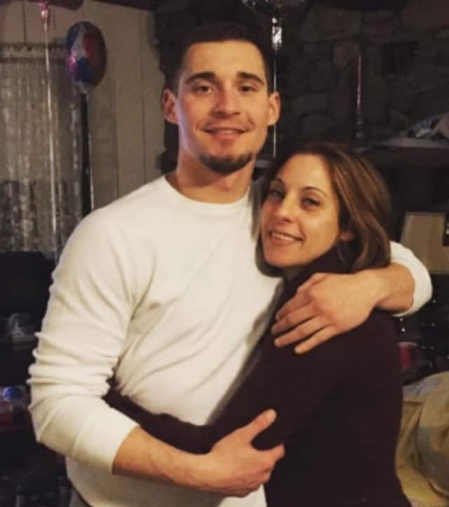 Joseph Muratori with his mother, Dawn Meade