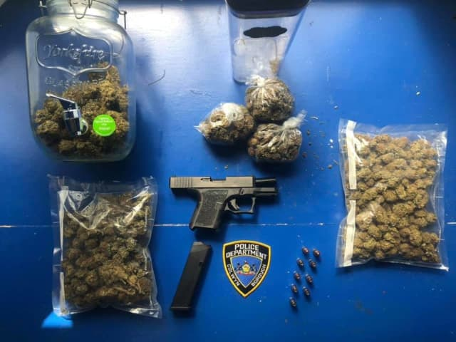 The evidence police recovered from the scene.
