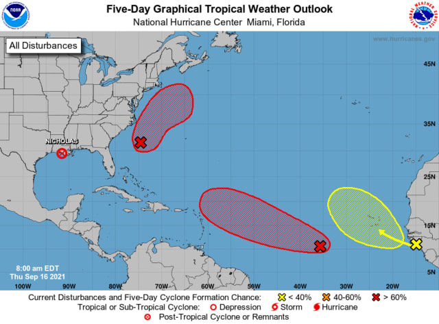 A look at the systems in the Atlantic basin.
