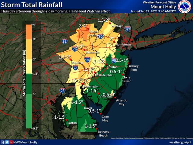 Flood watch across New Jersey
