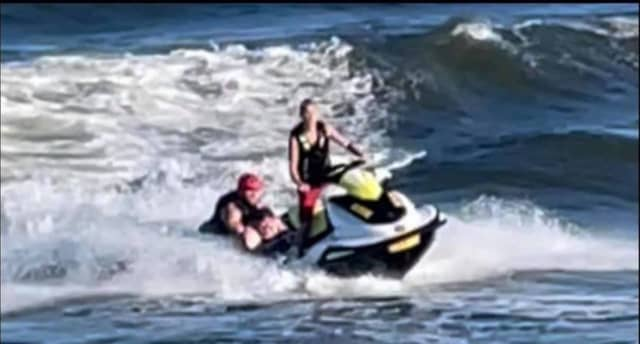 A Brookfield woman drowned after being caught in a rip current.