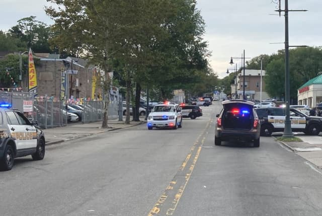 City police converged on the area after the shooting.