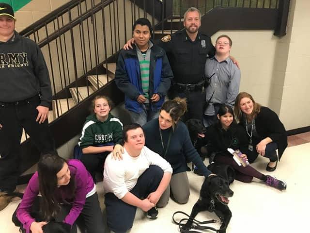 Yorktown students got to meet the K-9 unit