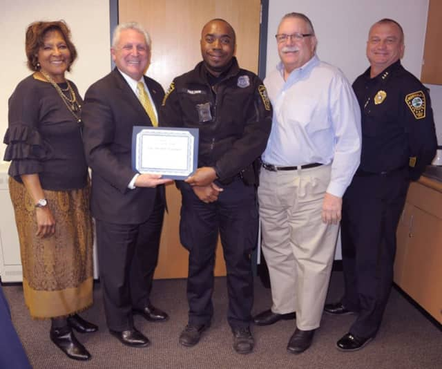 Commissioner Collier-Clemmons, Mayor Rilling, Officer Paulemon, Commissioner Yost and Chief Kulhawik