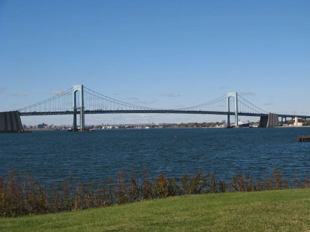 The Throgs Neck Bridge.