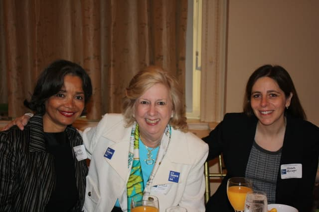 Linda Fairstein (center) with friends in 2009.
