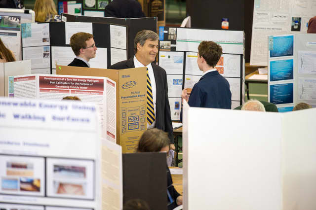 Judging at the Connecticut Science and Engineering Fair