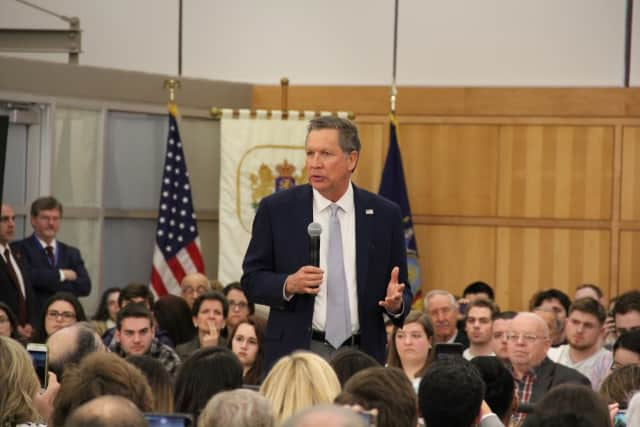 John Kasich will be holding a town hall in New Rochelle Saturday.