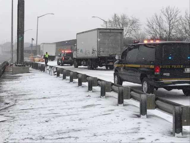 New York State Police issued several dozen tickets on I-684 on Wednesday.