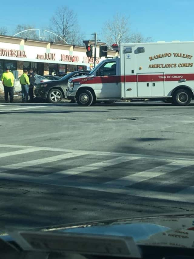 A pedestrian was struck by a car in Ramapo.