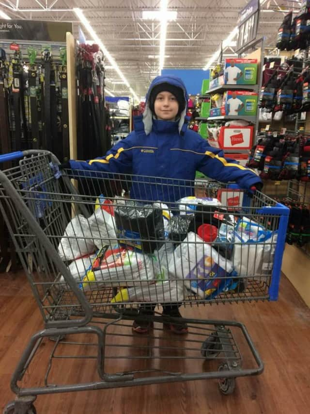 Logan Eisenberg is collecting socks for homeless people.