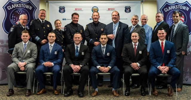 Clarkstown Police Chief Raymond McCullagh welcomed six new officers and promoted three.