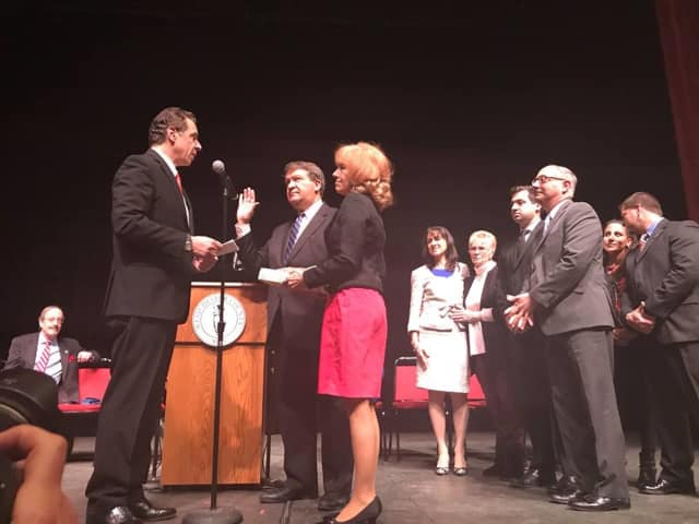 Gov. Andrew Cuomo swore in Westchester County Executive George Latimer