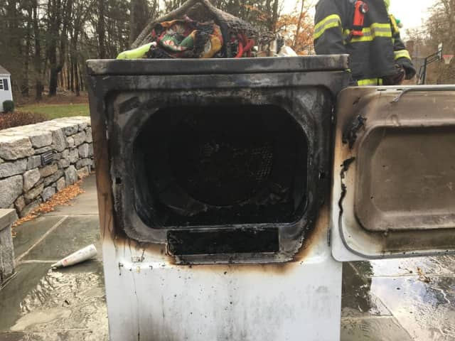 A fire broke out in the laundry room of a home on Lampwick Lane in Fairfield on Saturday.